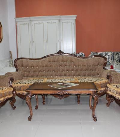 Set Canapea si fotolii Versailles (Nuc)