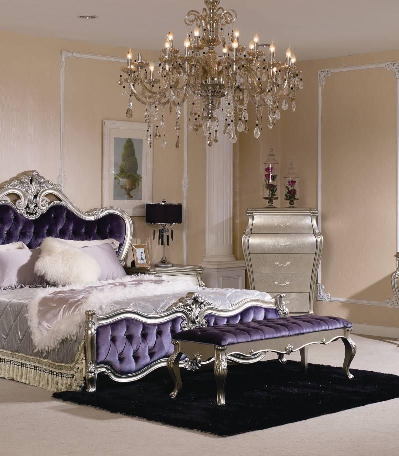 Dormitor fara dulap Princess Silver