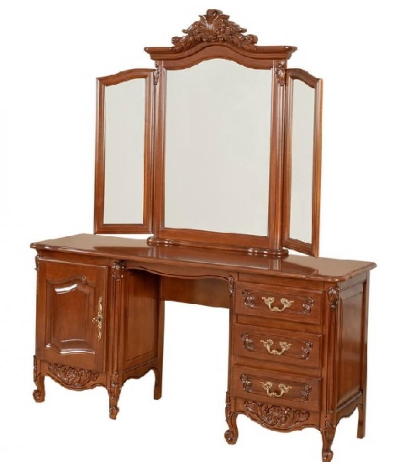 Tualeta 1 usa, 3 sertare cu rama oglinda Mogador
