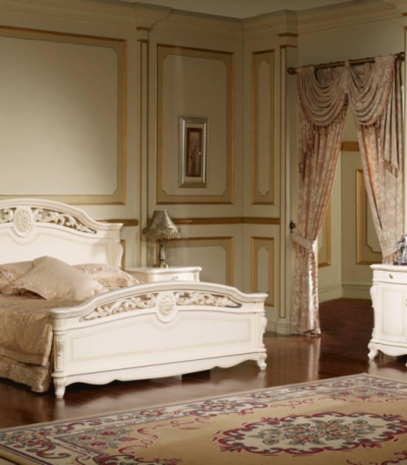 Dormitor Apollo alb argintiu fara dulap